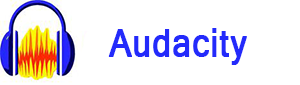 Audacity logo - henviser til Dolphin Consults Audacity kursus side