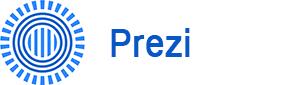 Prezi logo - henviser til Dolphin Consults Prezi kursus side