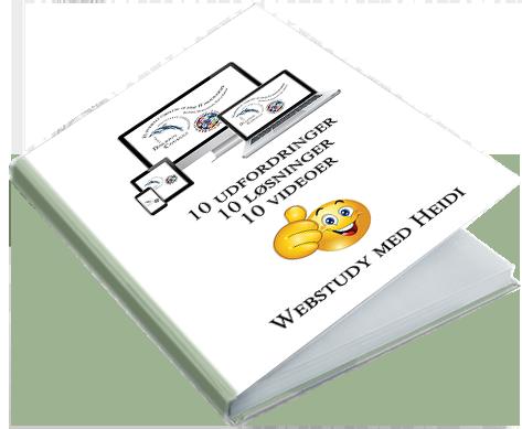 Nyhedsbrev. Webstudy med Heidi: Gratis e-bog med 10 IT udfordringer og deres løsning - på video og PDF