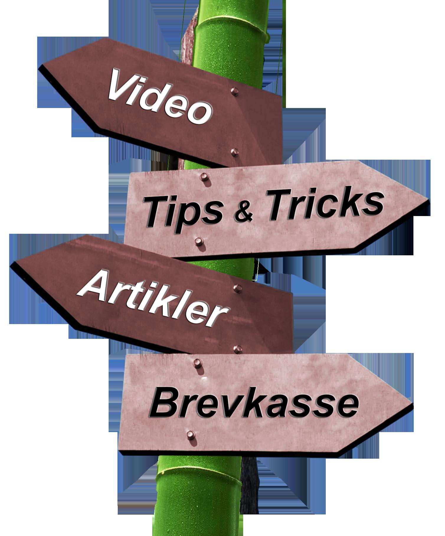 Få optimalt udbytte af dine IT programmer - skriv til brevkasse, læs artikler, få gratis tips & tricks og se videoer med forklaring på dine spørgsmål