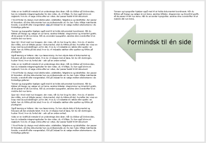 Word – Formindsk én side