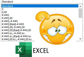 Excel – Brugerdefineret talformat fra bunden